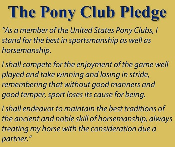 Image of the Pony Club Pledge