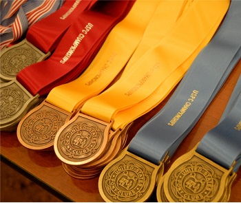 Row of Championships medals